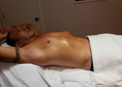 chest, stomach, and armpit waxing