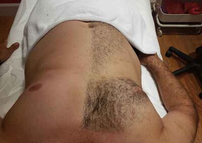 chest waxing for men